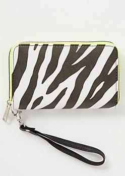 Zebra Print Colorblock Wallet