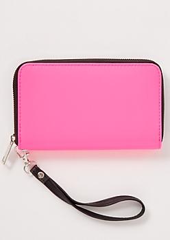Neon Pink Wallet