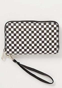 Checkered Print Wallet