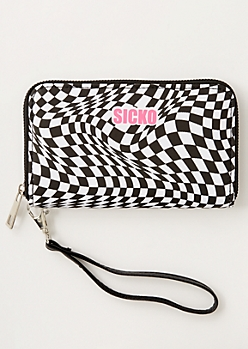 Checkered Print Sicko Wallet