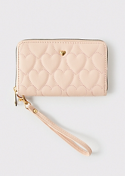 Pink Quilt Heart Wallet