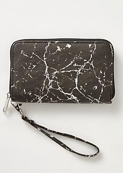 Black Marble Print Wallet