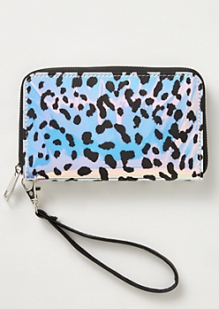 Holographic Leopard Print Wallet