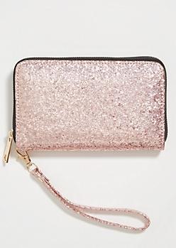 Pink Glitter Wristlet