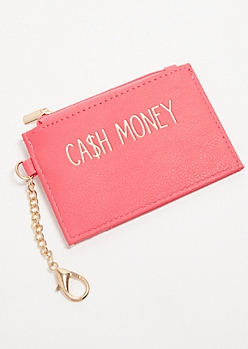 Magenta Cash Money Coin Purse
