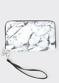 Black Marbled Wallet