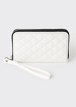 White Quilted Wallet