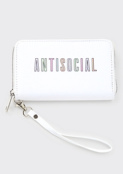 White Antisocial Wallet