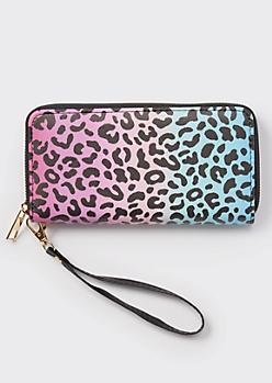 Ombre Leopard Print Wallet