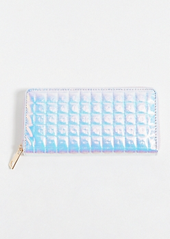 Iridescent Pink Quilted Wallet