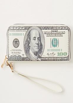 Hundred Dollar Bill Print Wallet