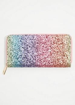 Rainbow Glitter Wallet