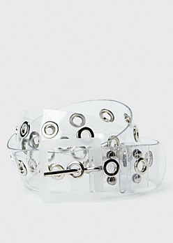 Clear Grommet Belt