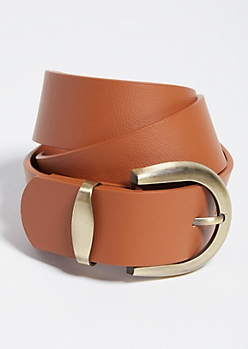 Cognac Brown Essential Wide Belt