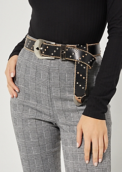 Mixed Metal Mini Studded Belt