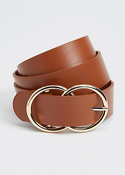 Cognac Double Ring Buckle Belt