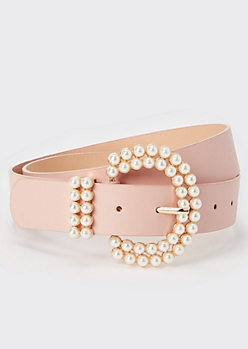 Pink Pearl Buckle Belt