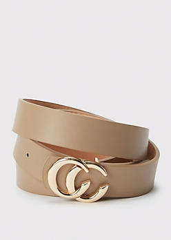 Taupe Horseshoe Belt