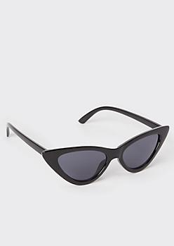 Black Tinted Lens Cat Eye Sunglasses