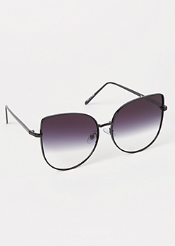 Black Gradient Cat Eye Sunglasses