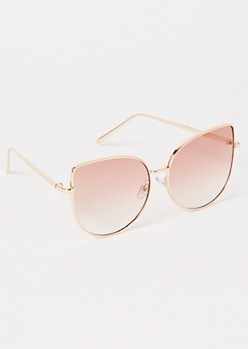 Gold Gradient Cat Eye Sunglasses