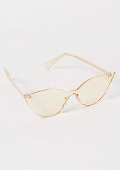 Yellow Clear Cat Eye Sunglasses