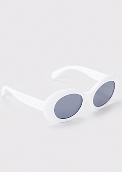 Oval Retro Rim Sunglasses