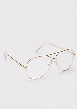Gold Frame Aviator Readers