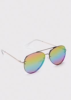 Rainbow Sunset Aviator Sunglasses