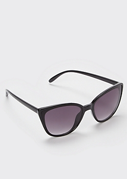 Black Glossy Cat Eye Sunglasses