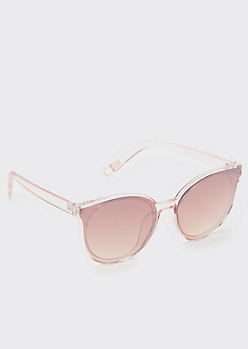 Pink Round Cat Eye Sunglasses