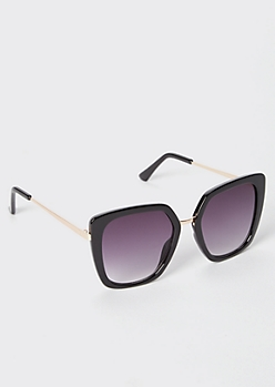 Black Oversize Square Sunglasses