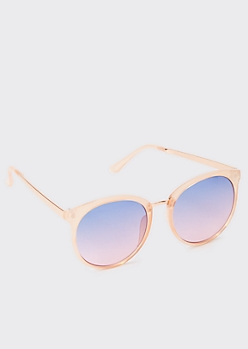 Tortoiseshell Tonal Cat Eye Sunglasses