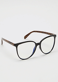 Cheetah Print Round Blue Light Readers