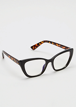 Tortoise Cat Eye Blue Light Readers