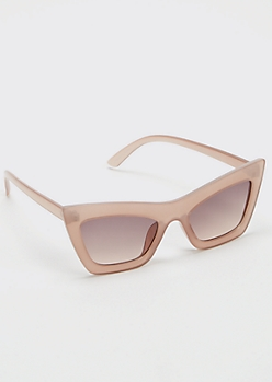 Blush Pink Retro Cat Eye Sunglasses