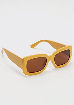 Yellow Square Sunglasses