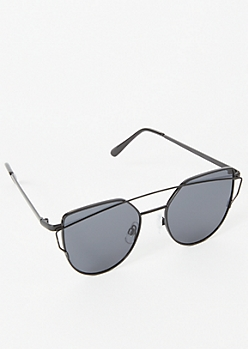Black Brow Bar Cat Eye Sunglasses