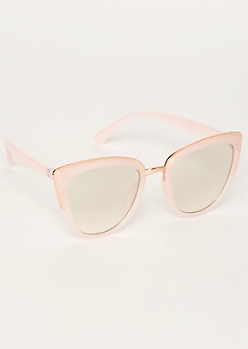 Pink Trim Cat Eye Sunglasses