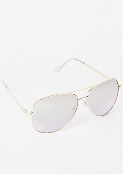 Ombre Gold Aviator Sunglasses