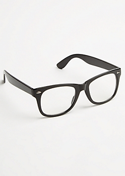 Black Square Frame Clear Lens Readers