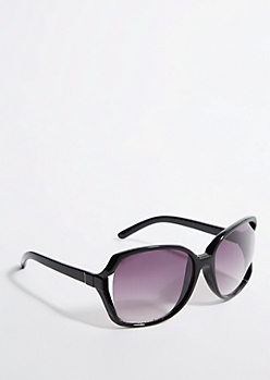Oversized Black Smoky Square Sunglasses