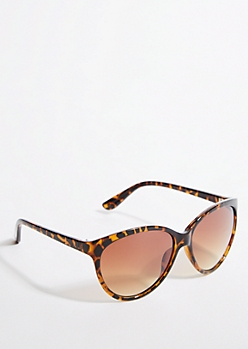 Tortoiseshell Gradient Lens Cat Eye Sunglasses