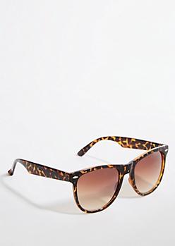 Tortoiseshell Gradient Lens Retro Sunglasses