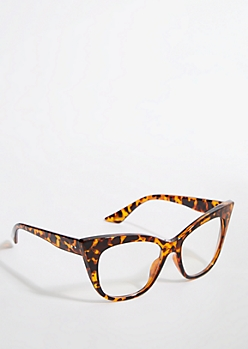 Tortoiseshell Clear Lens Cat Eye Readers