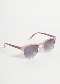 Pink Browline Sunglasses