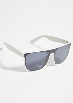 White Shield Sunglasses