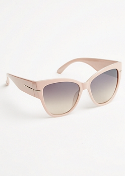Pink Wide Frame Cat Eye Sunglasses