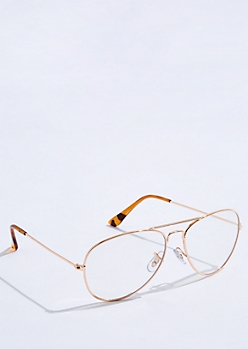 Gold Tortoiseshell Aviator Readers