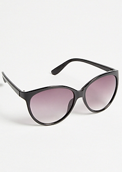 Black Full Cat Eye Smoky Sunglasses
